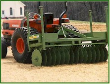 Bowie Straw Crimper anchors straw and hay mulch.