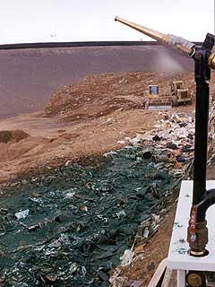 Mulching Landfill Trash with Waste-Cover